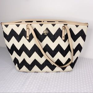 Kate Spade Canvas Chevron Tote Bag